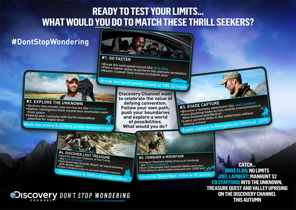 Discovery Channel – Don't Stop Wondering Infographic
